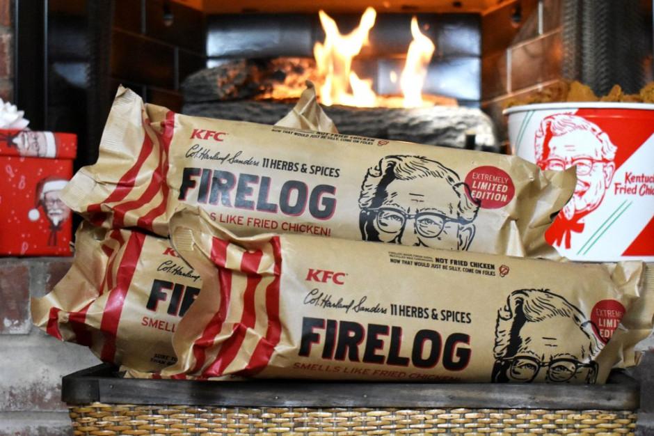 Dom pachnący smażonym kurczakiem? Innowacyjny wkład do kominka od KFC