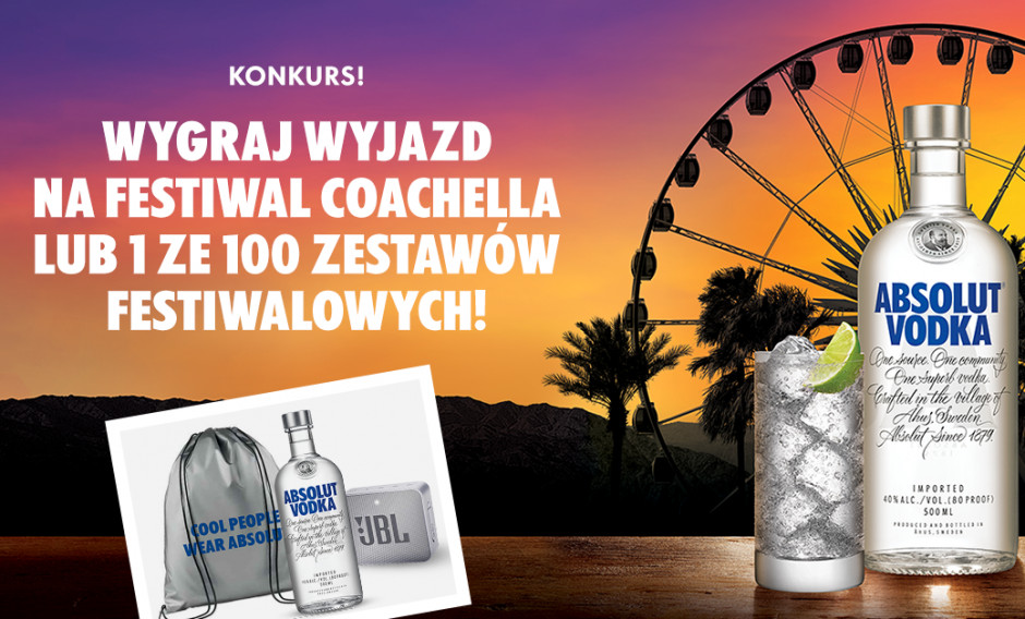Absolut oficjalnym sponsorem Coachella Festival 2019
