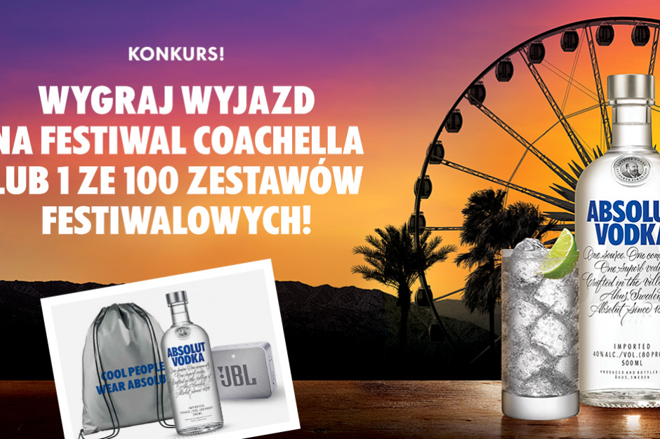 Absolut oficjalnym sponsorem Coachella Festival 2019