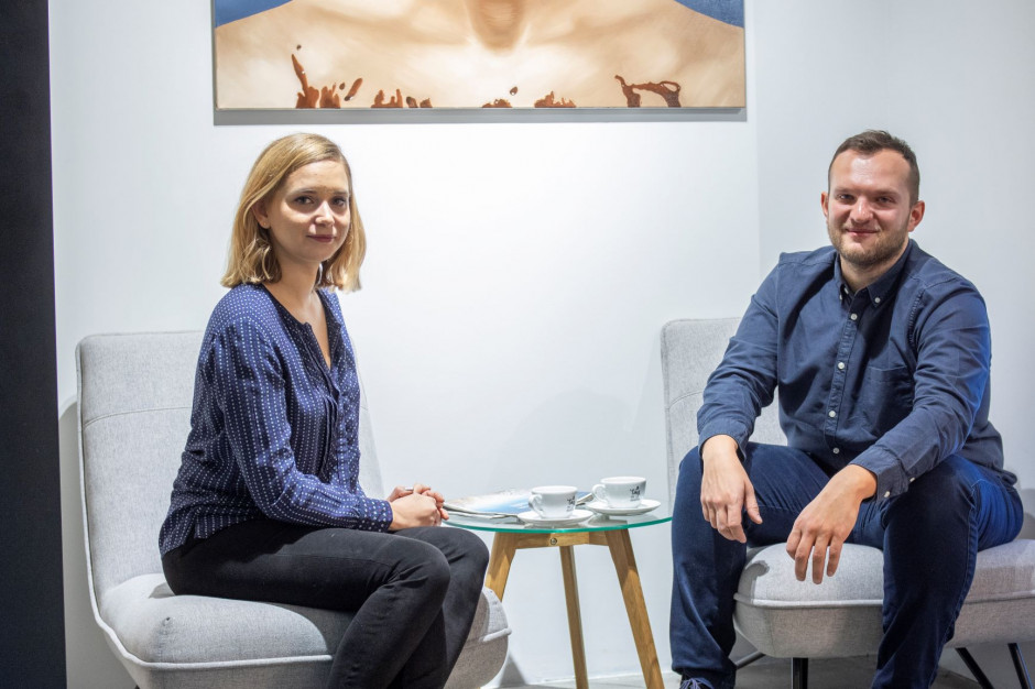 Monika Głuchowska i Mateusz Kwiatkowski, założyciele kawiarni #tag, fot. PTWP