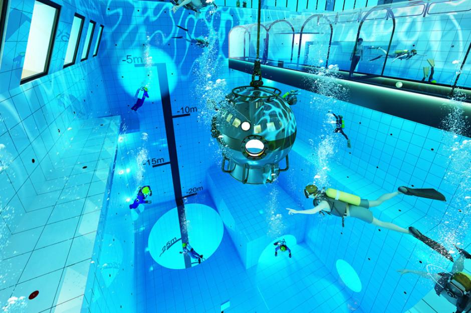 Pod Warszawą powstaje hotel z widokiem na wnętrze basenu