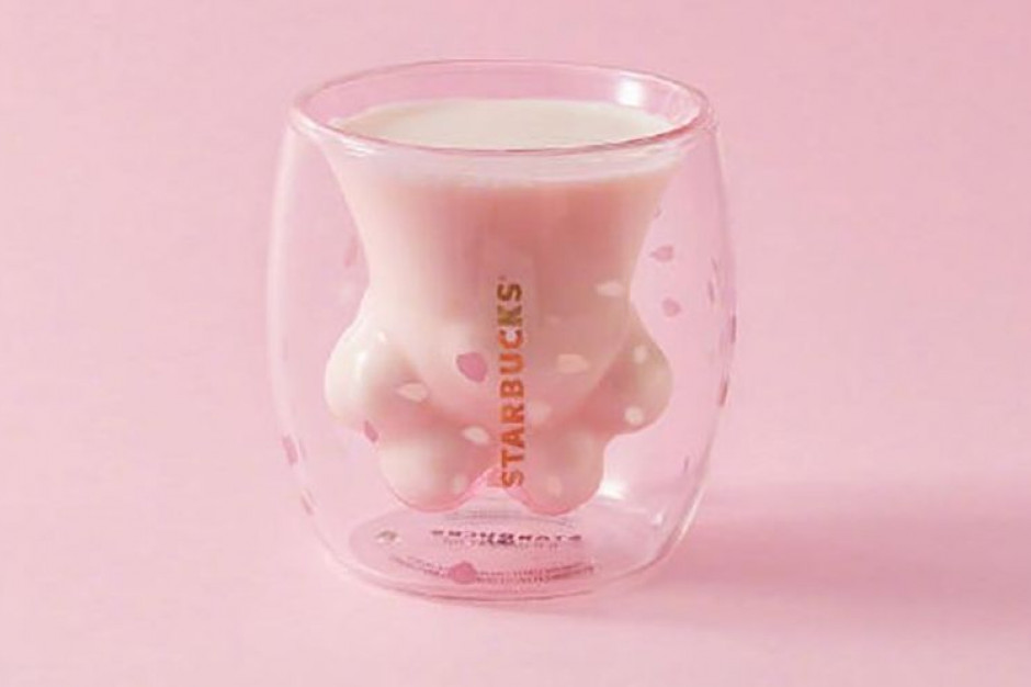 The Cat Paw Cup - szklanka z kocią łapką od Starbucks hitem sprzedażowym w Chinach