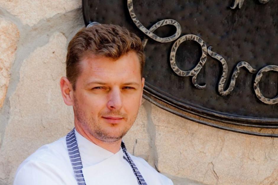 Dominik Duraj, szef kuchni restauracji Villa Gardena