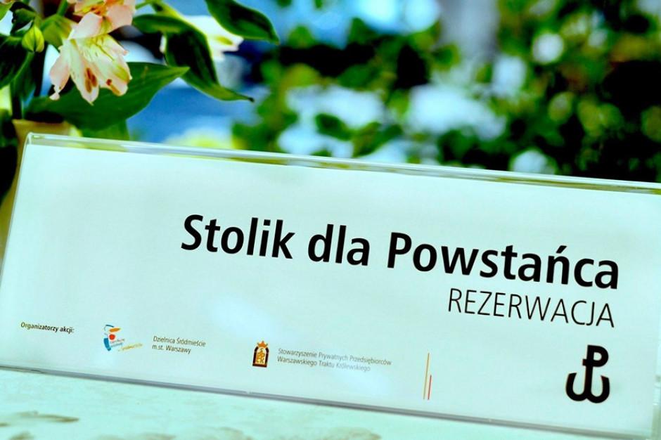 """""""Stolik dla Powstańca"""" – warszawskie restauracje zapraszają na bezpłatny posiłek"""