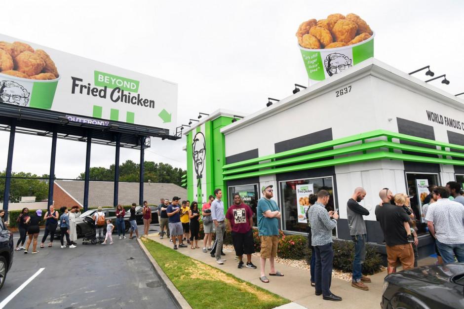 Roślinny kurczak KFC nowym hitem sieci