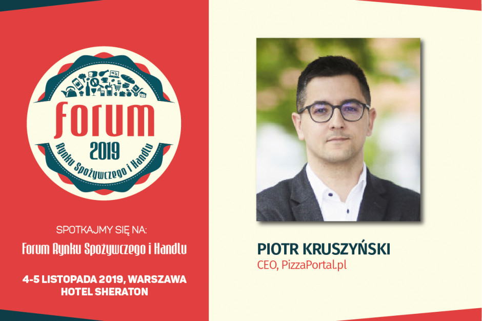 Piotr Kruszyński, CEO PizzaPortal.pl, prelegentem #HorecaTrendsTalks na FRSiH 2019