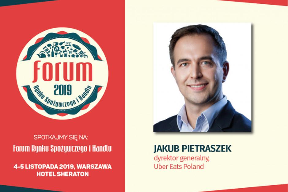 Jakub Pietraszek, dyrektor generalny Uber Eats Poland, na FRSiH 2019
