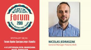 Nicolas Jedraszak, General Manager Poland Wolt, prelegentem FRSiH 2019