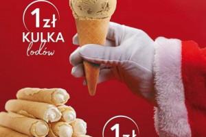 Mikołajki u Grycana: kulka lodów lub rurka z bitą śmietaną za 1 zł