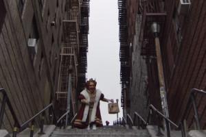 Burger King z Uber Eats wykorzystuje w kampanii słynne schody z filmu