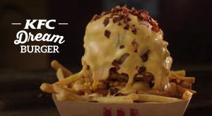 KFC Dream Burger - limitowany burger oblany serem i posypany bekonem