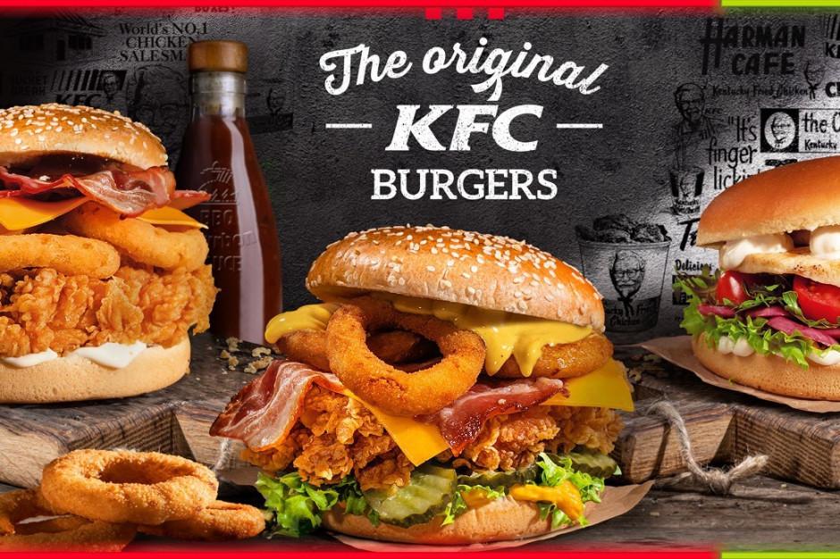 KFC przywraca ofertę Original KFC Burgers