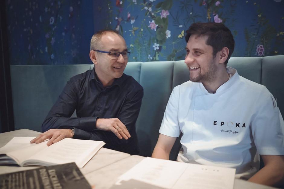 Marcin Przybysz, szef kuchni Epoki, sięga w fine dining'owym menu do głębokiej przeszłości