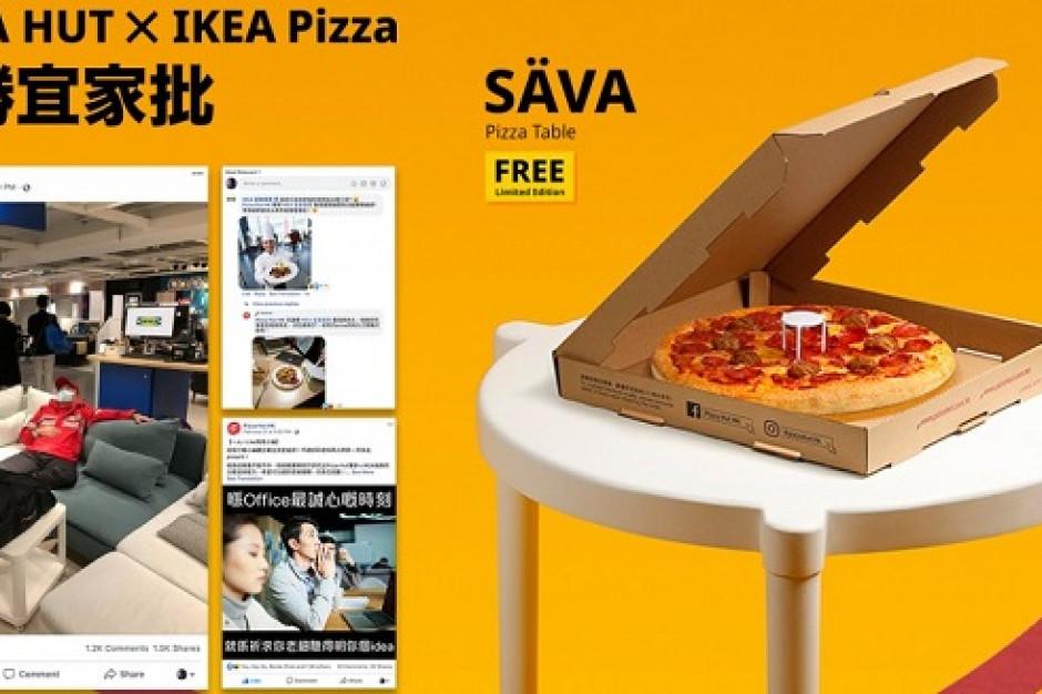 IKEA z Pizza Hut stworzyła stolik na pizzę z klopsikami