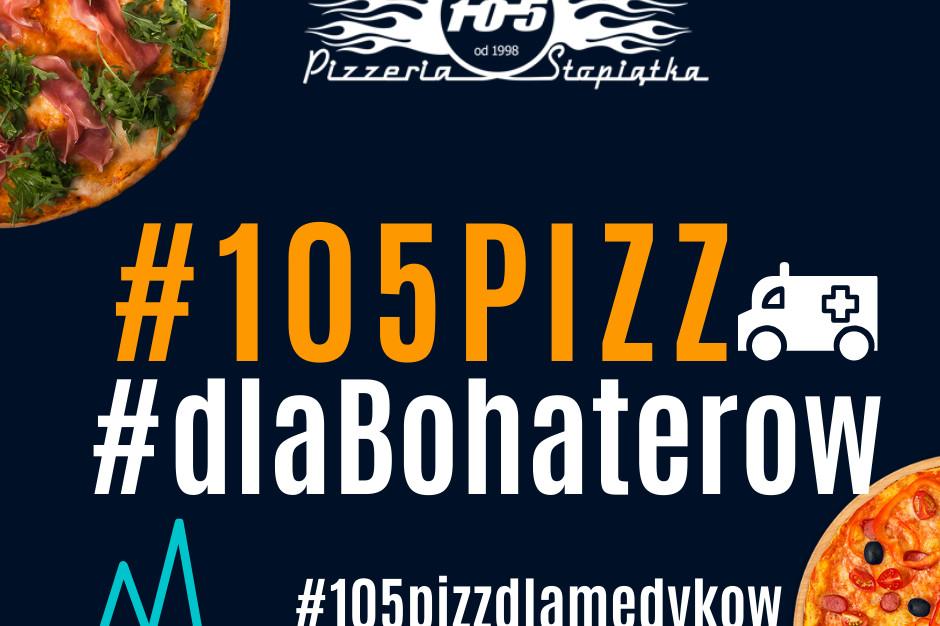 """Sieci Pizzerii Stopiątka z akcją """"105 pizz dla Bohaterów"""""""