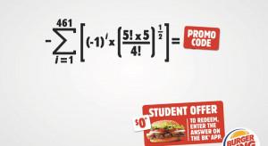 Burger King rozdaje uczniom burgery za rozwiązywanie szkolnych zadań