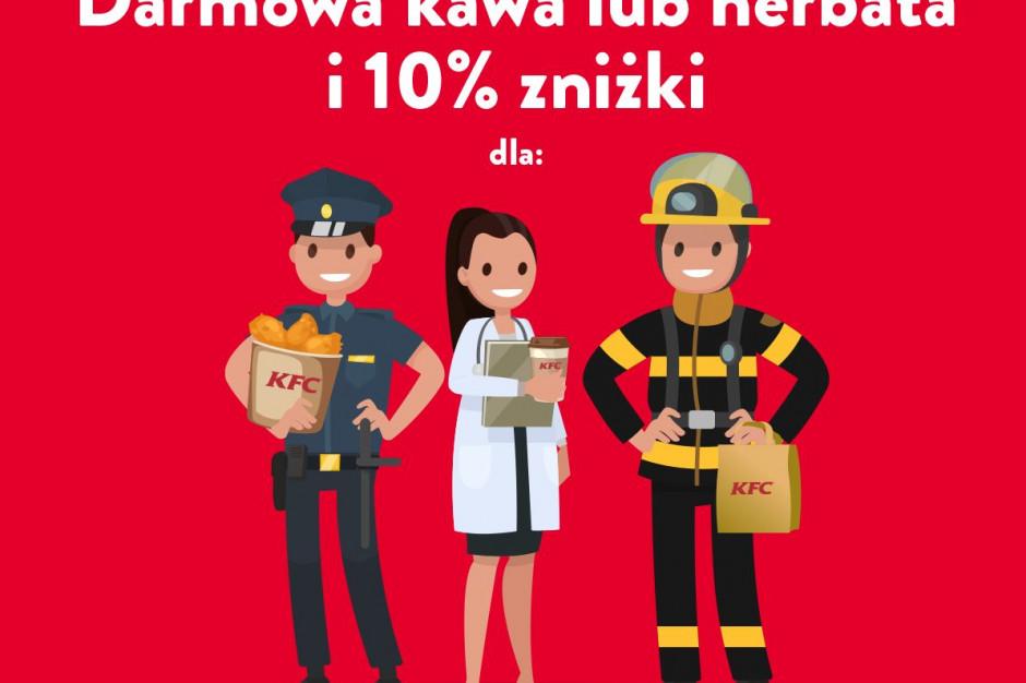 KFC daje zniżkę służbom mundurowym i ochrony zdrowia