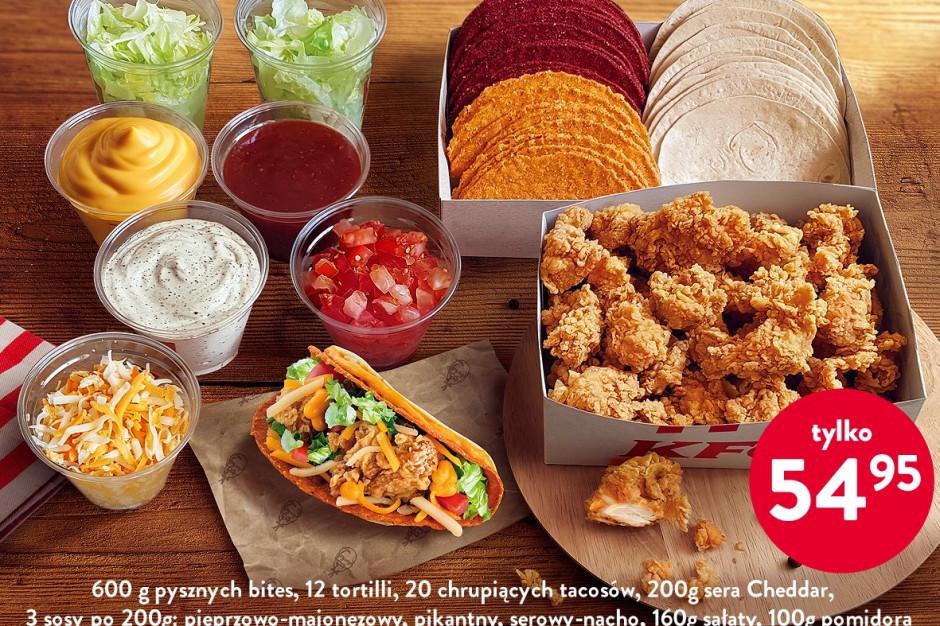 """KFC wprowadza do oferty """"TACOmbo"""", czyli zestaw składników potrzebnych do przyrządzenia 20 tacosów"""