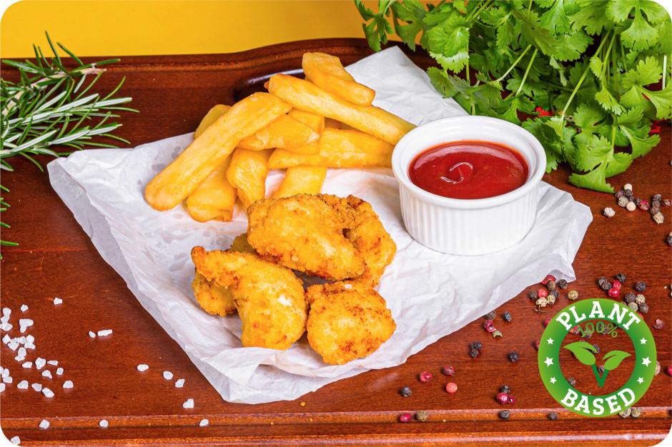 King Rooster wprowadza do menu roślinne nuggetsy o smaku kurczaka