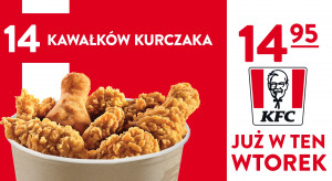 KFC wraca z promocją Wtorkowy Kubełek