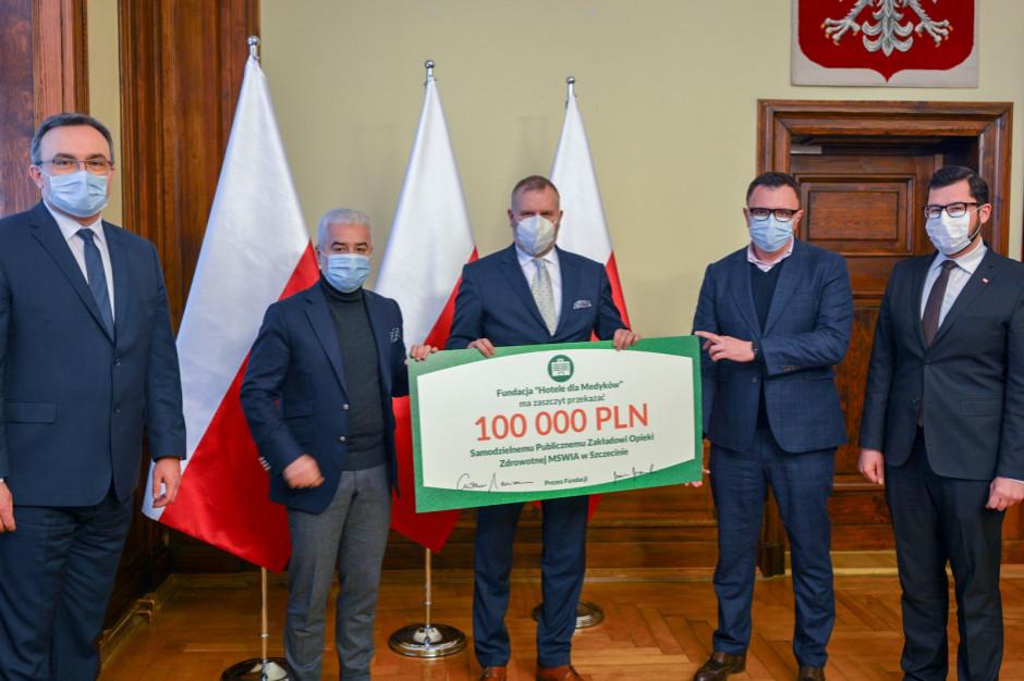 Hotele dla Medyków wspierają szpital w Szczecinie