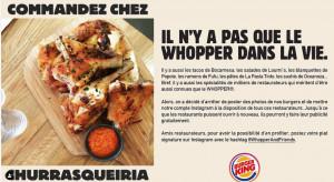 Burger King we Francji oddał swój Instagram lokalnym restauracjom