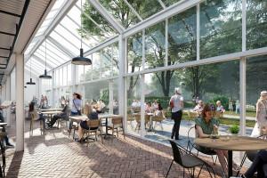 Nowa, gastronomiczna przestrzeń w zielonym sercu Woli