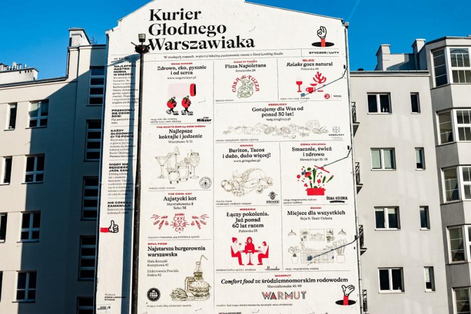 W Warszawie powstał mural wspierający lokalną gastronomię