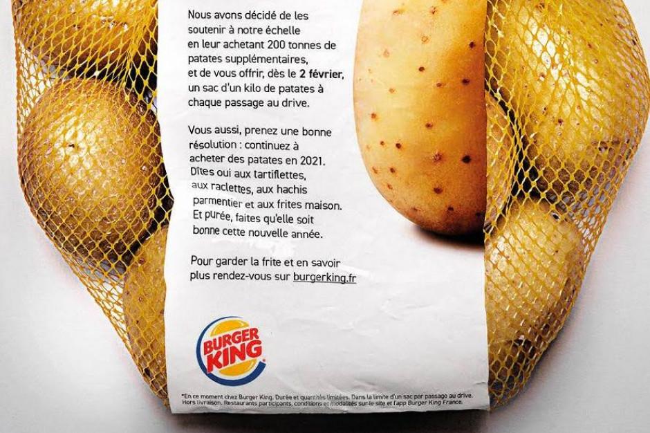 Francuski Burger King rozdaje klientom worki z ziemniakami