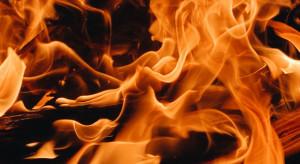Pożar w hotelu w Końskich