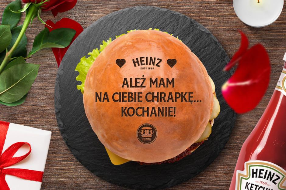 Heinz i Bobby Burger obdarują zakochanych burgerami w Walentynki