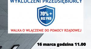 W Warszawie trwa protest przedsiębiorców