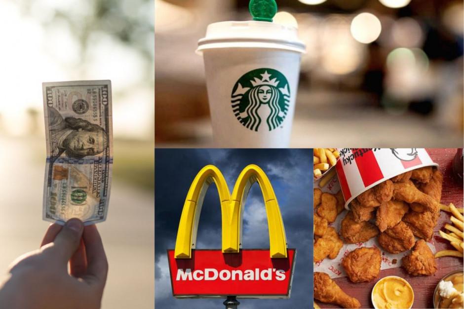 Starbucks, McDonald's, KFC najcenniejszymi marki restauracji