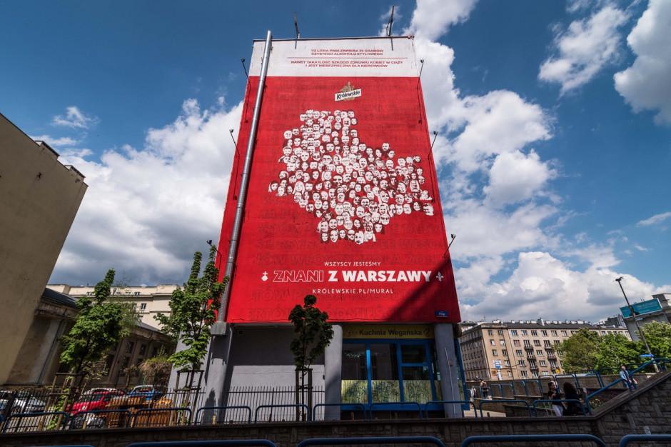 Znani z Warszawy na muralu w ramach kampanii marki Królewskie