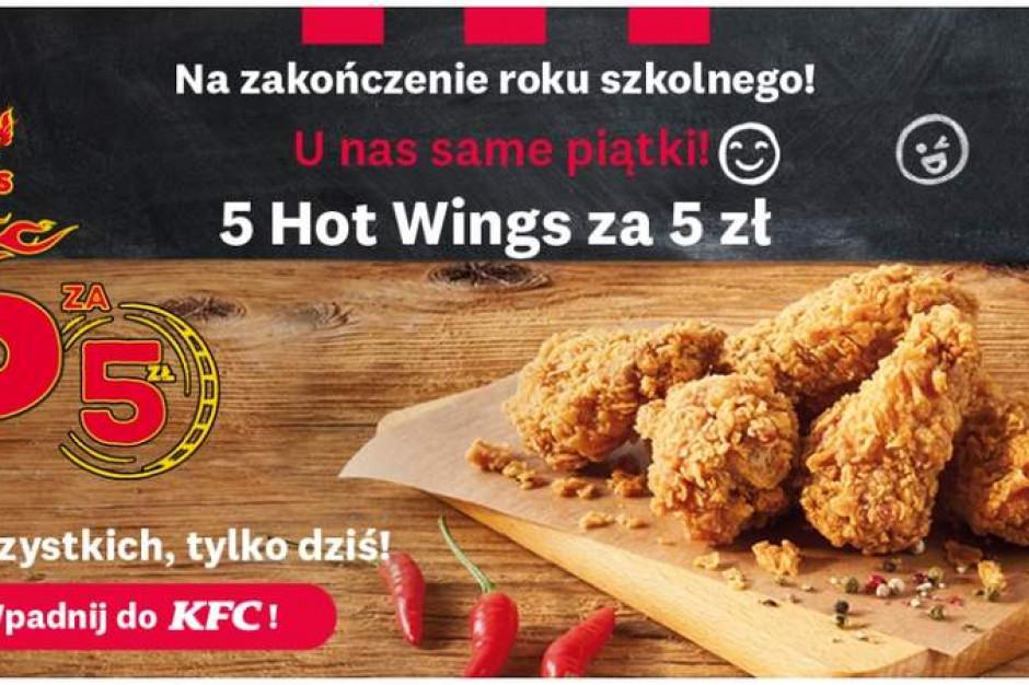 KFC z promocją na zakończenie roku szkolnego