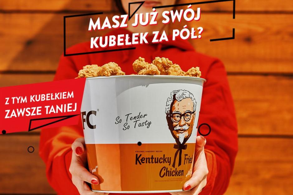 """Nowa promocja KFC - metalowy """"Kubełek za Pół"""""""